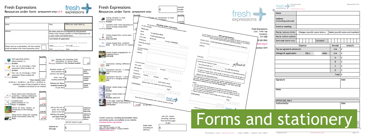 Forms and stationery